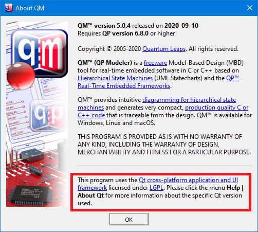 QM: Compliance with Qt LGPL