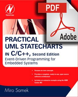 PDF download of the book; Practical UML Statecharts in C/C++