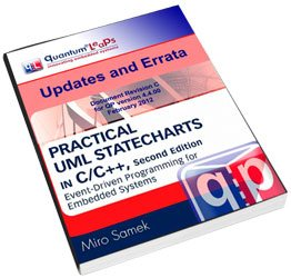 Errata download for the book Practical UML Statecharts in C/C++