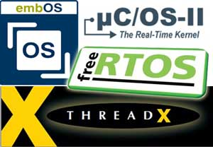 RTOS supported by QP